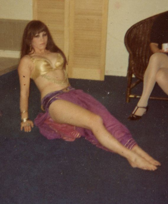 She went across town to unknown territory to take her first belly dance lesson.