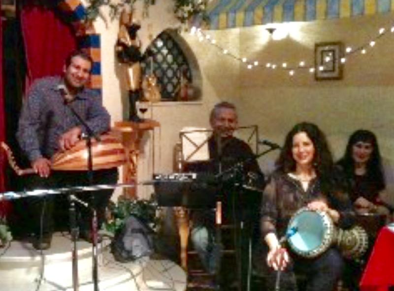 Husain, Jalal, Susu and Amina at Al Masri
