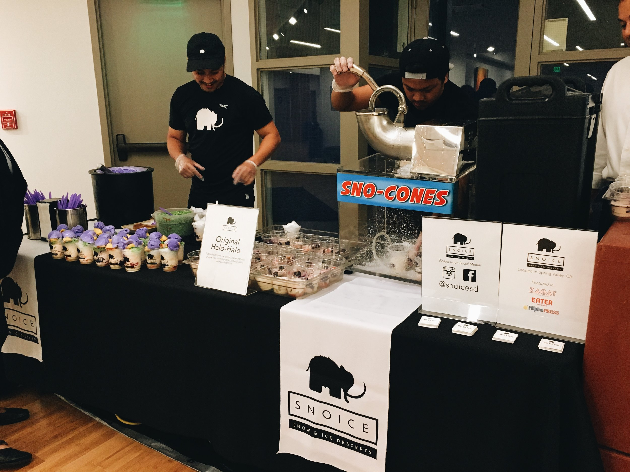 """(1/2) We served our original halo-halo at the opening night reception of Asian Story Theater's production of """"Halo-Halo."""""""