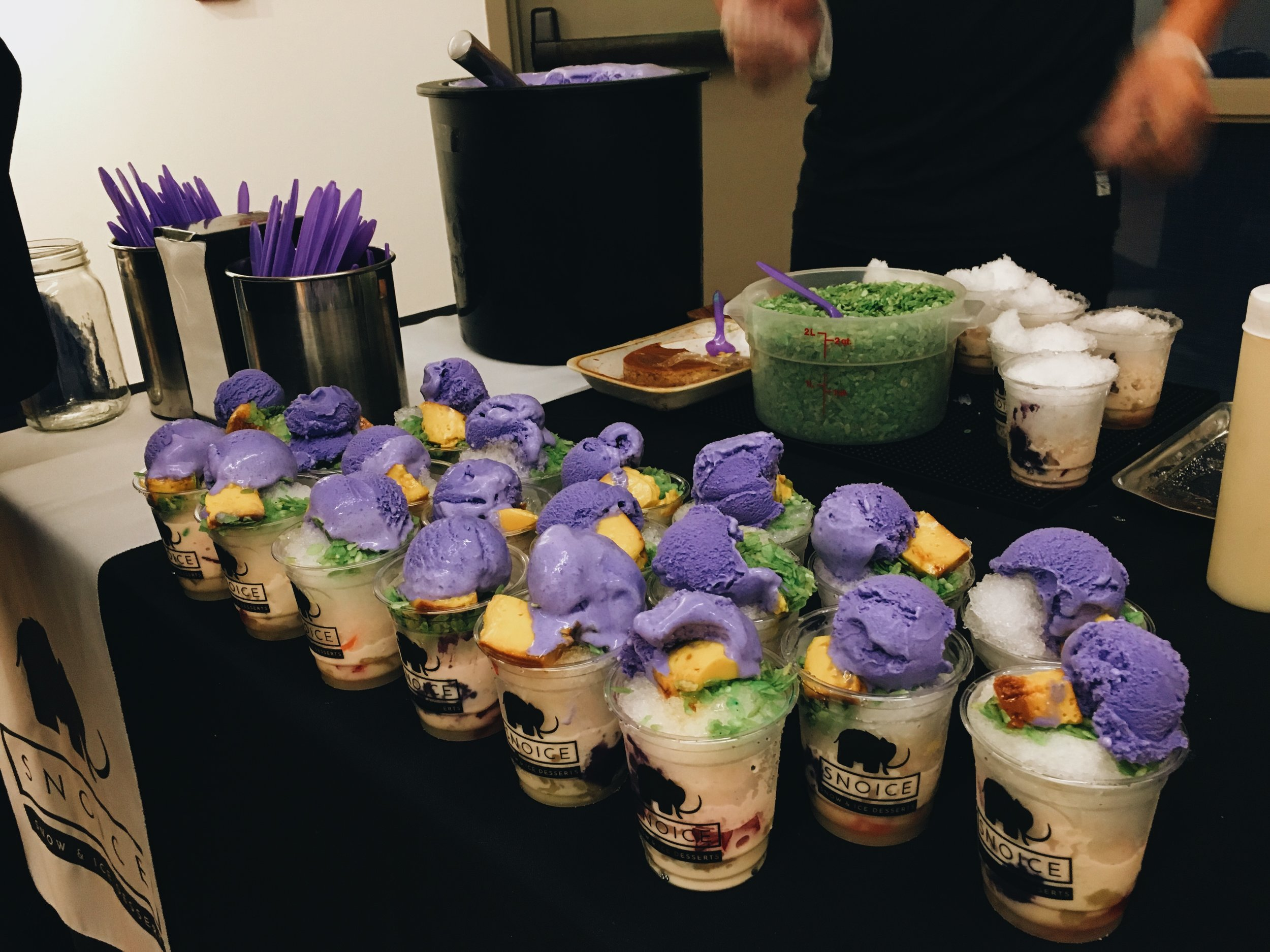 """(2/2) A close-up of our mini halo-halos. We served our original halo-halo at the opening night reception of Asian Story Theater's production of """"Halo-Halo."""""""