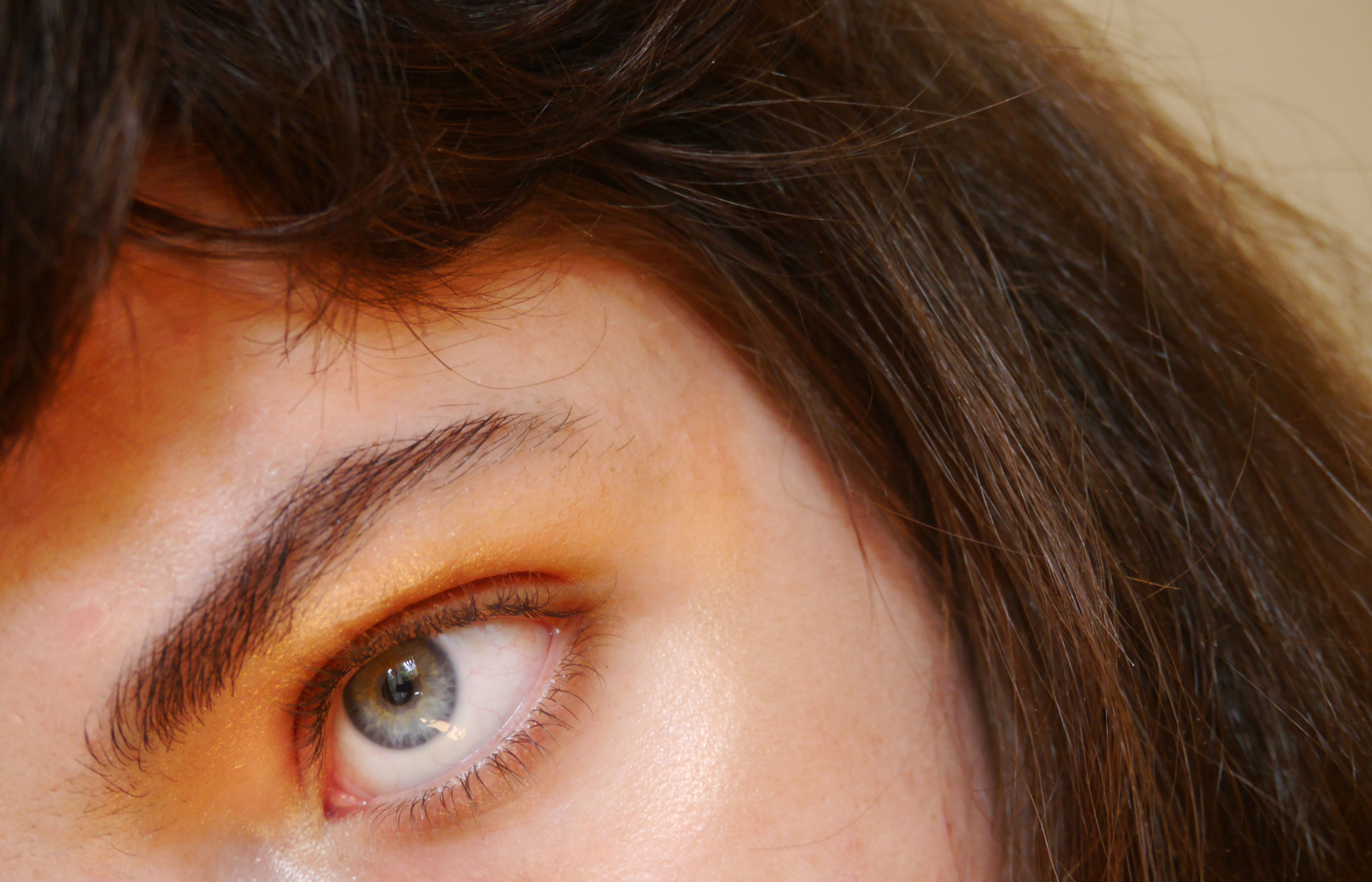 Yeah, we're doing another eye shot. I'm probably too old to keep cutting my own fringe but whatever.