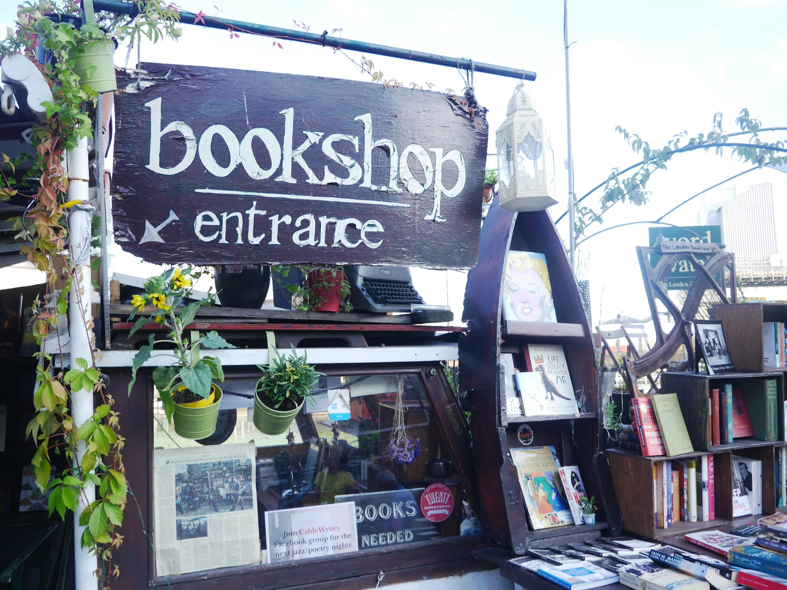 A heavenly bookshop on a boat near King's Cross.