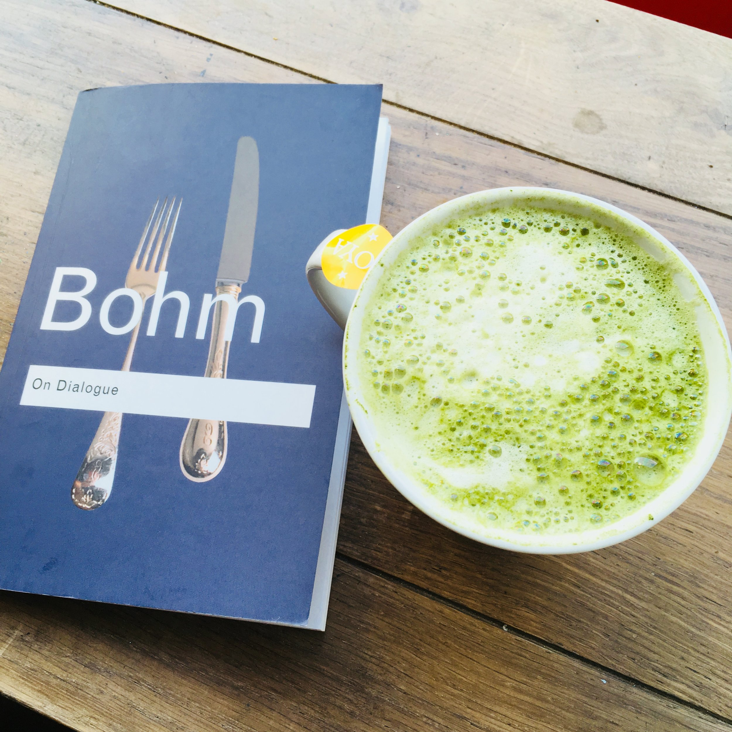 On Dialogue and a Pret matcha latte.