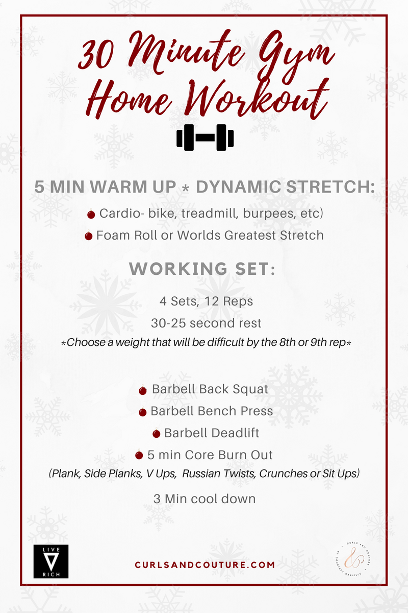 30 Minute Holiday Gym Workout