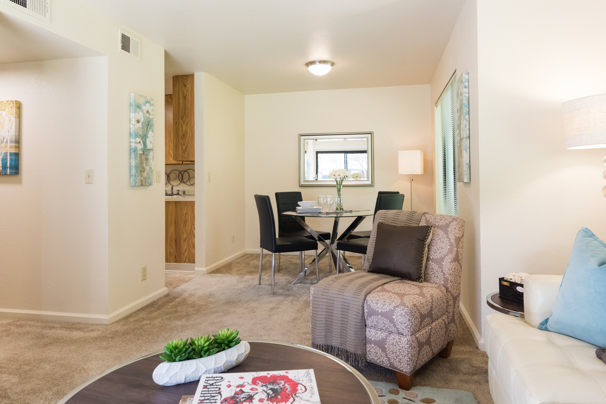 Dining Room in Rental Townhome