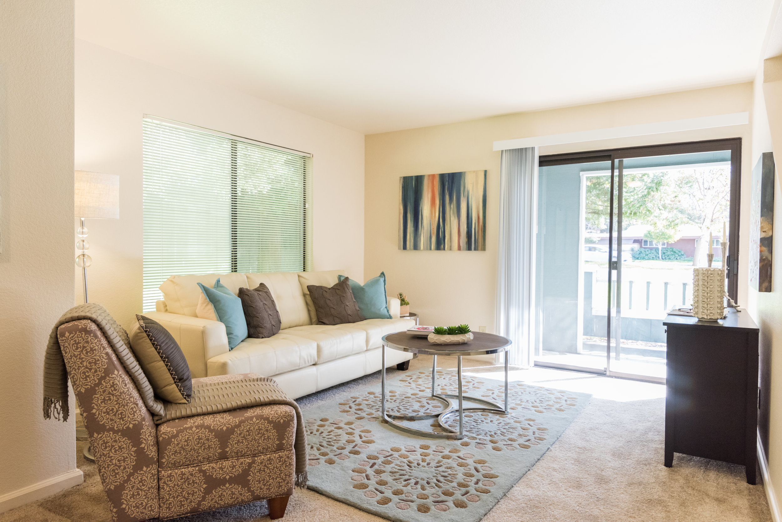 Family Room in Rental Townhome