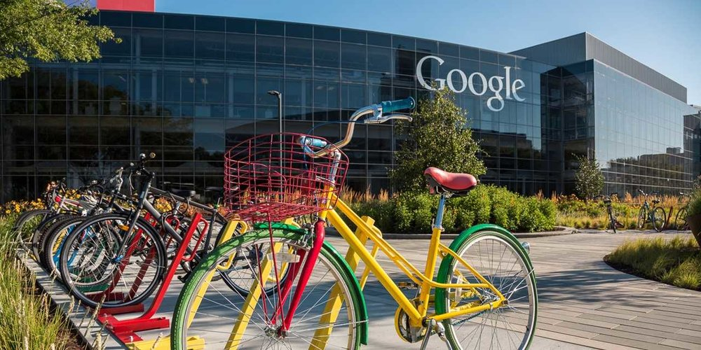 Googleplex Headquarters located in Silicon Valley in Mountain View, CA