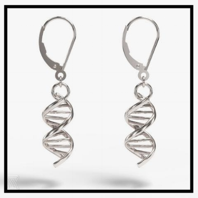 A subtle and pretty piece of true crime geekery DNA earrings