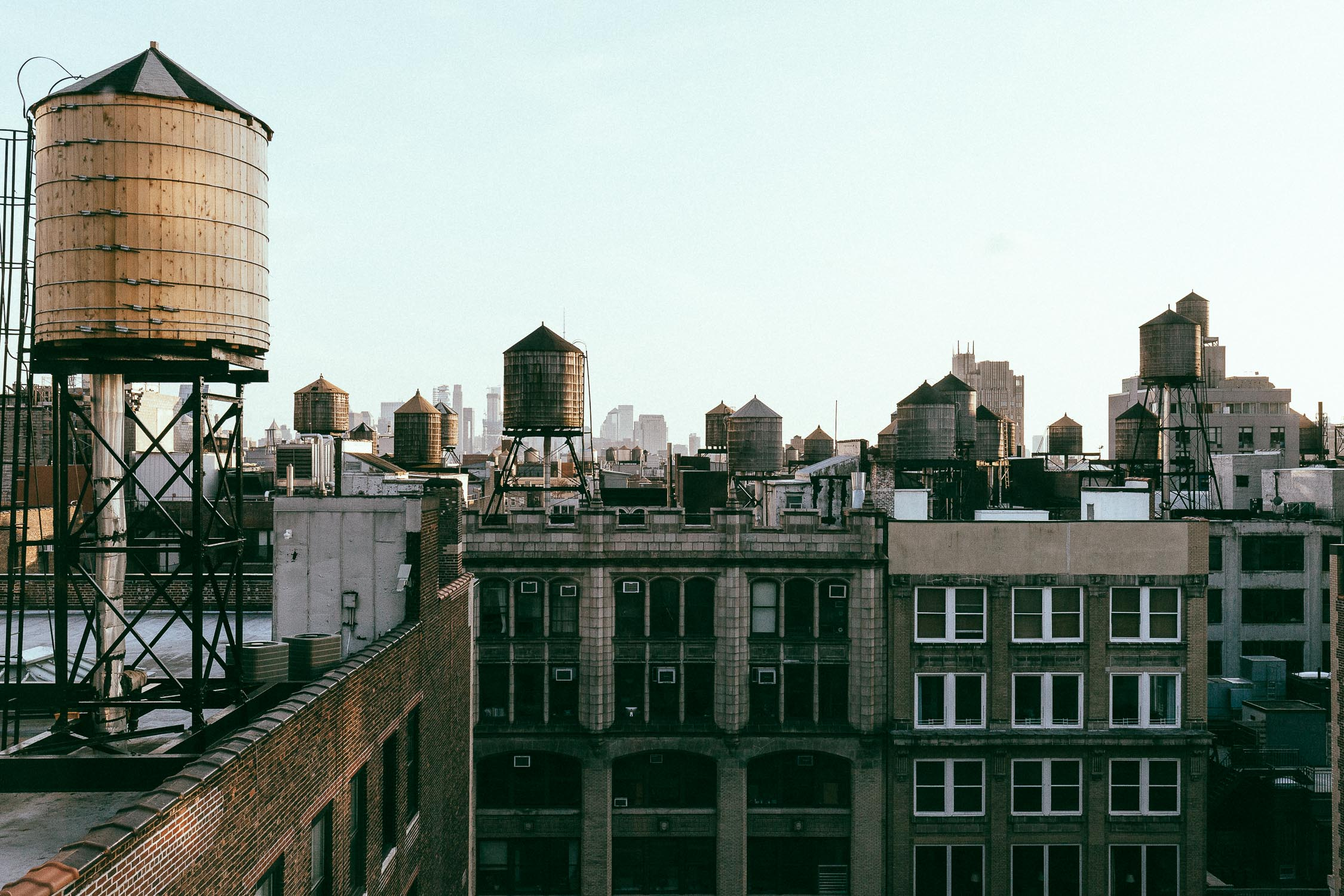 New York skyline Manhattan financial district