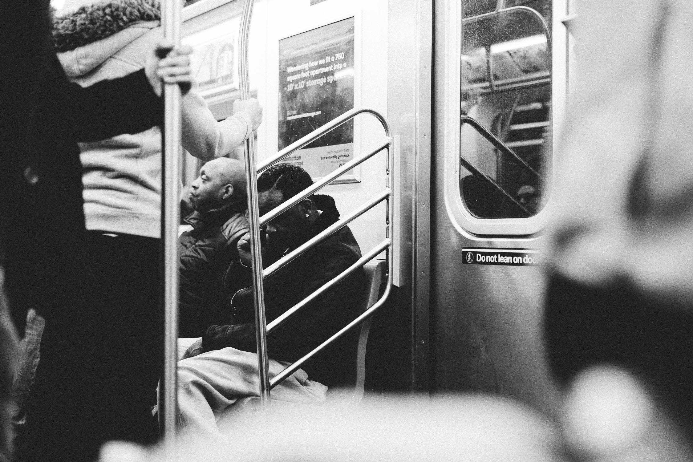 subway new york monochrome