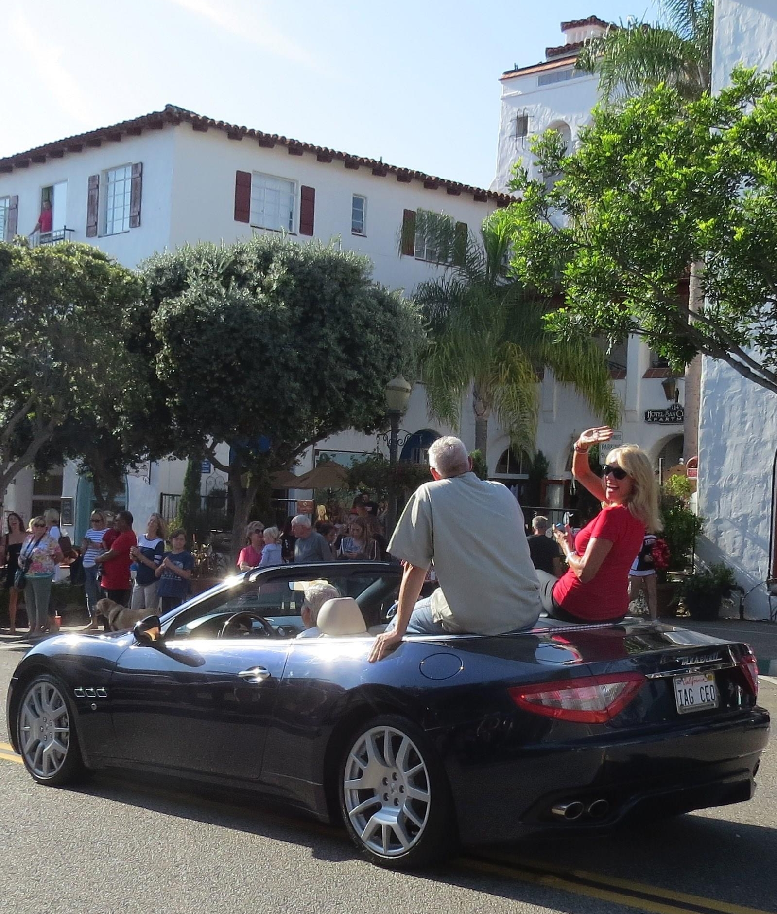 Riding in the San Clemente homecoming parade
