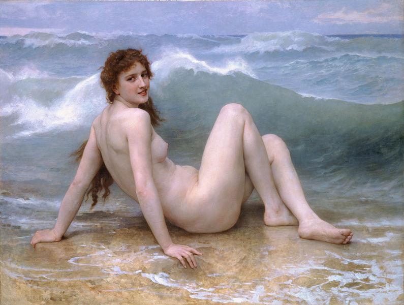 William Bougeureau, La Vague. 1896.