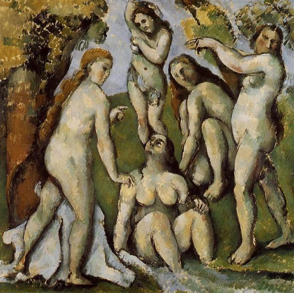 Paul C é zanne, Cinq Baigneuses.1887.