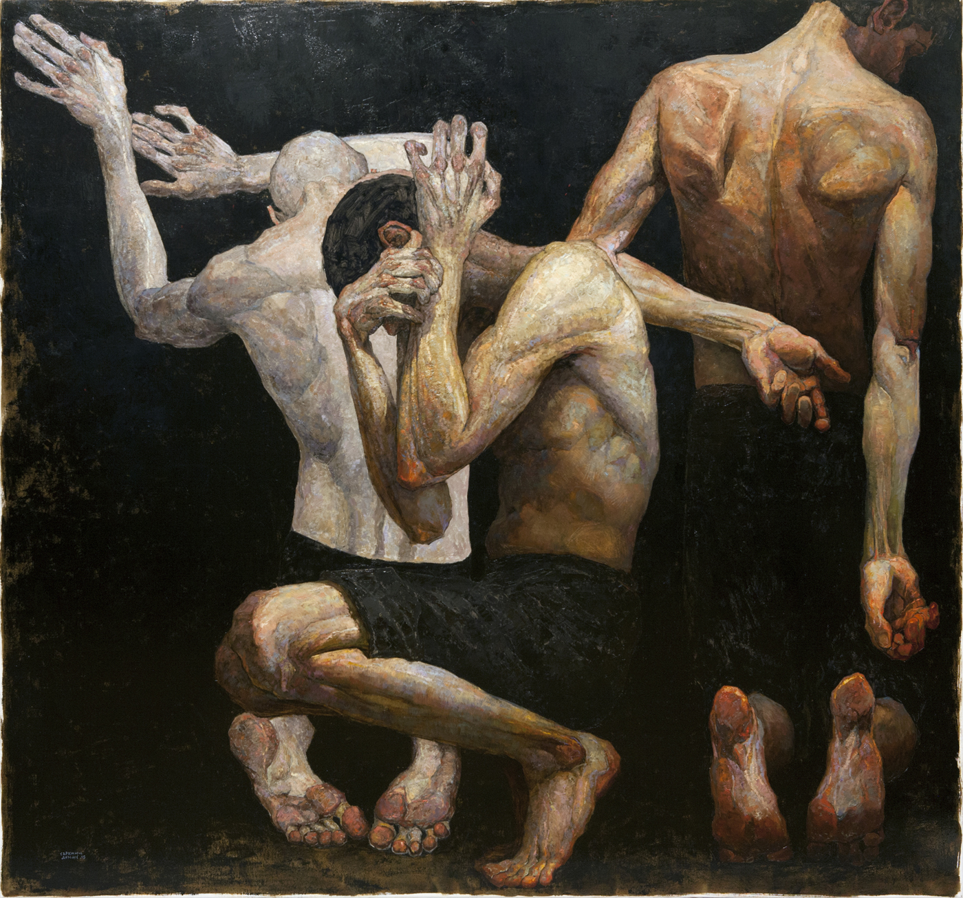 Pantomime 3  (2014). Oil on canvas.