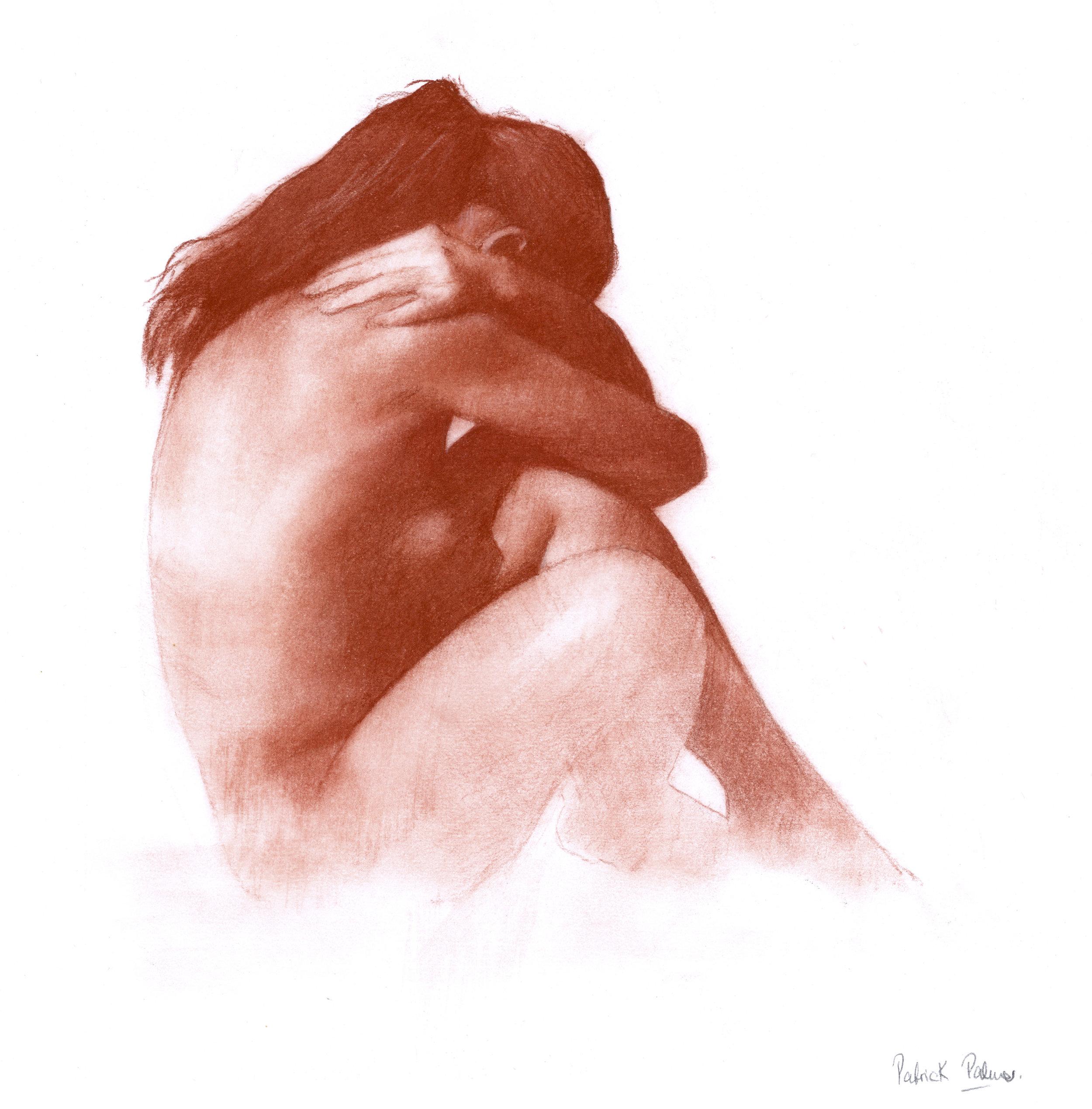 Solitude,  2012, red chalk