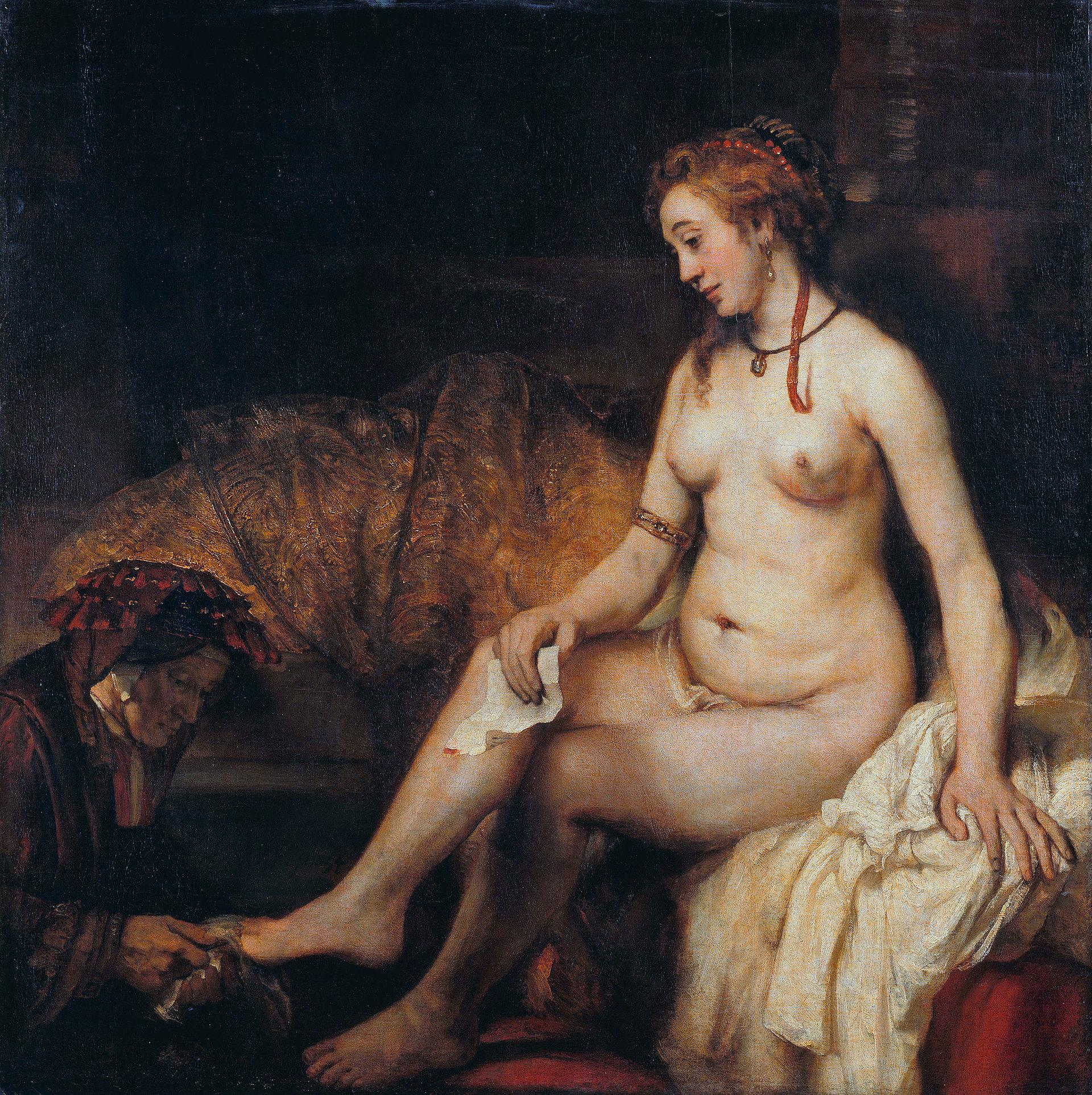 Rembrandt,  Bathsheba at Her Bath , 1654.