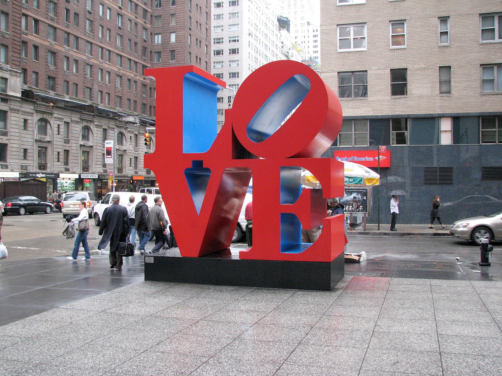 Love Sculpture, Robert Indiana