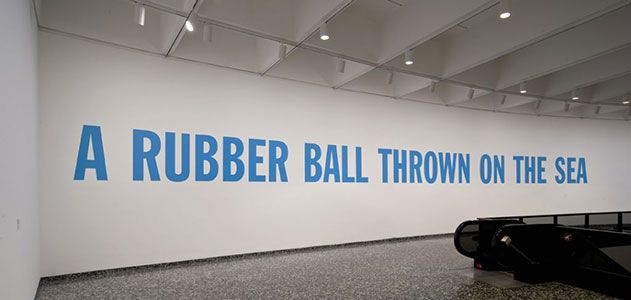 A Rubber Ball thrown on the Sea, Lawrence Weiner