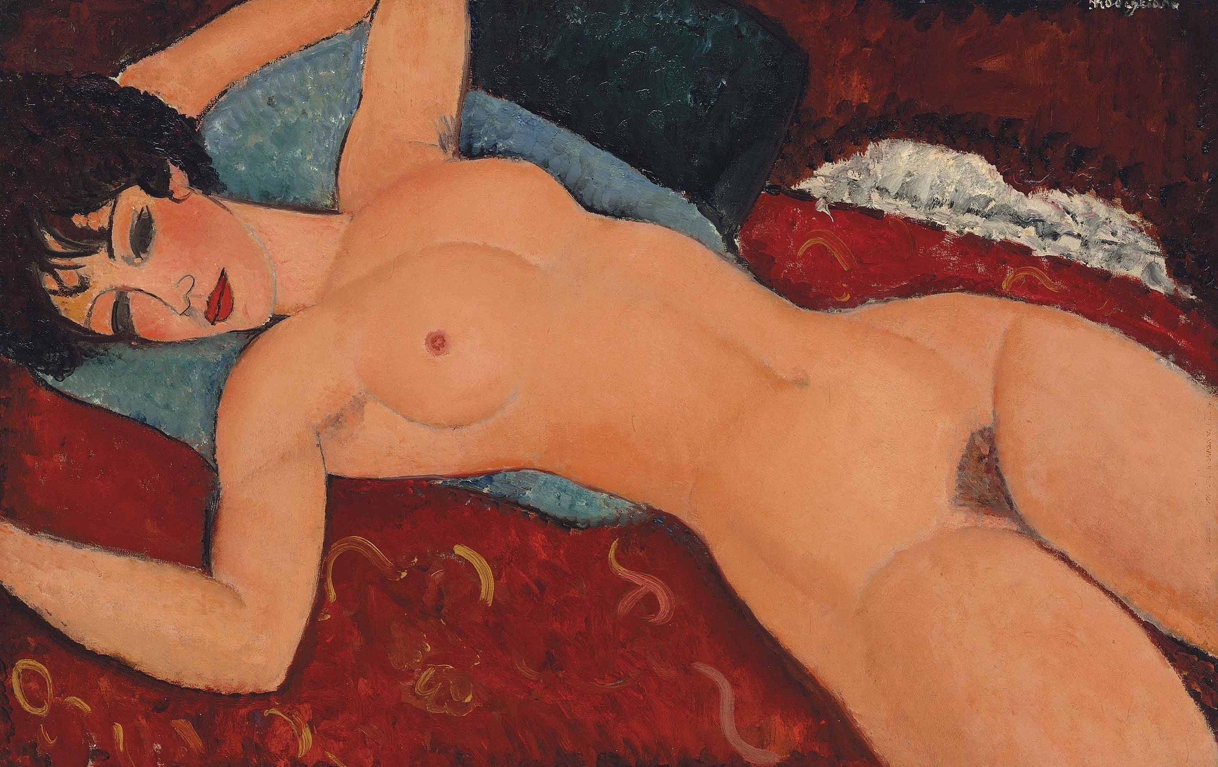Amedeio Modigliani, Nu couché, 1917, oil on canvas