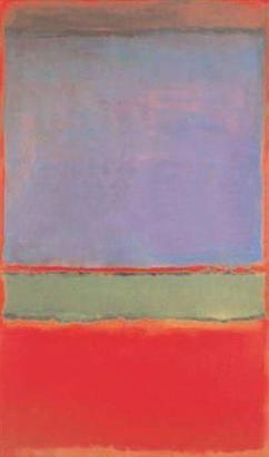 Mark Rothko,  No.6 (Violet, Green and Red) , 1951, oil on canvas