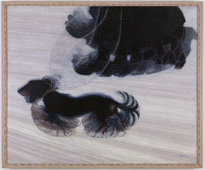 Dynamism of a Dog on a Leash, 1912, Giacomo Bella, oil on canvas