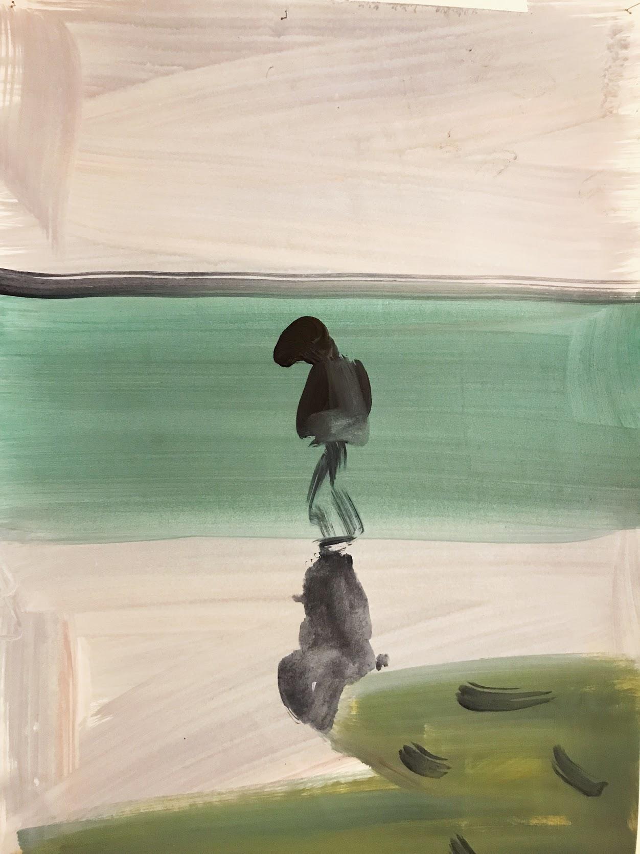 Susie Hamilton, On Margate Sands , 2018, watercolour on paper.