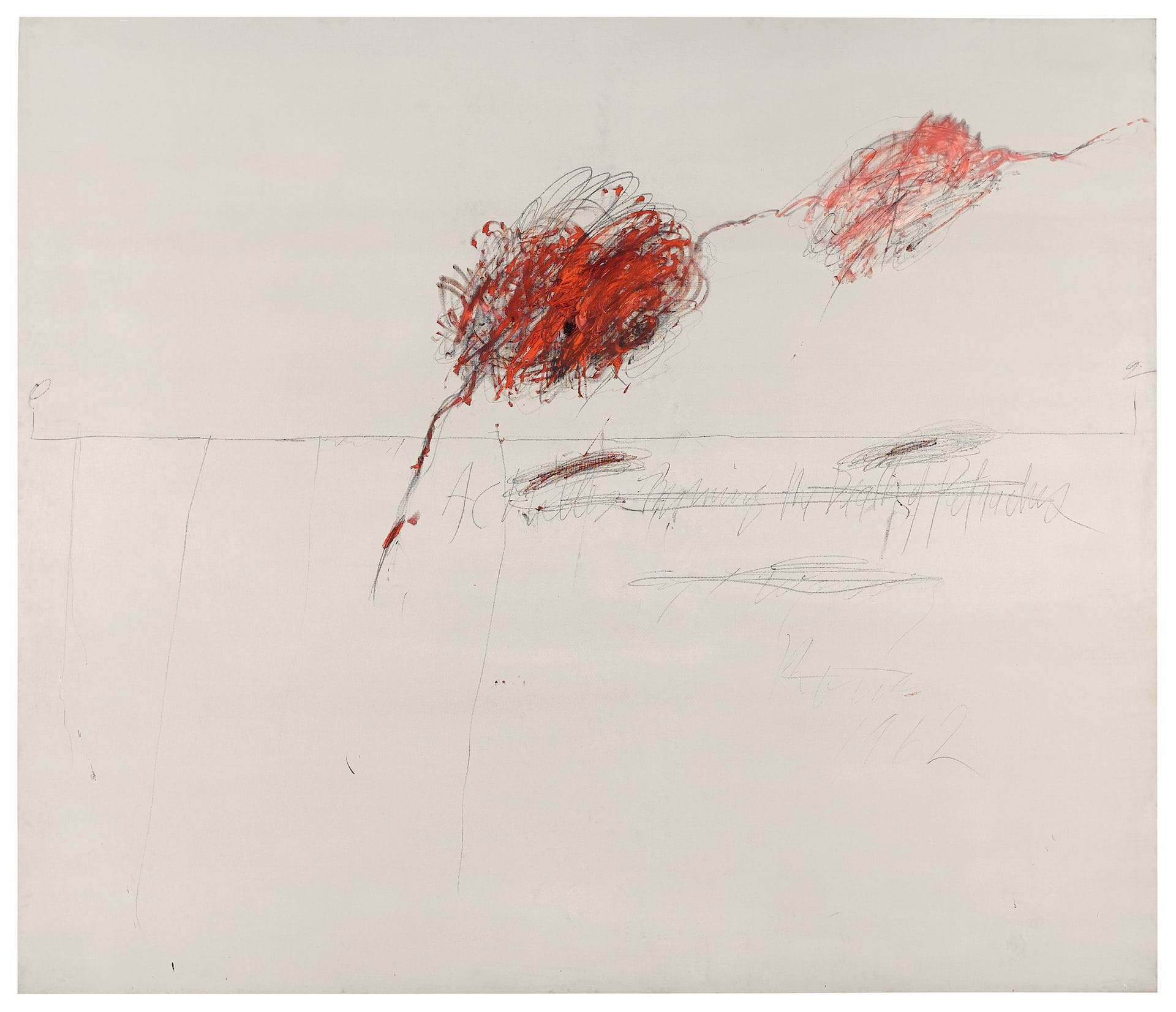 Cy Twombly's Achilles Mourning the Death of Patroclus (1962)