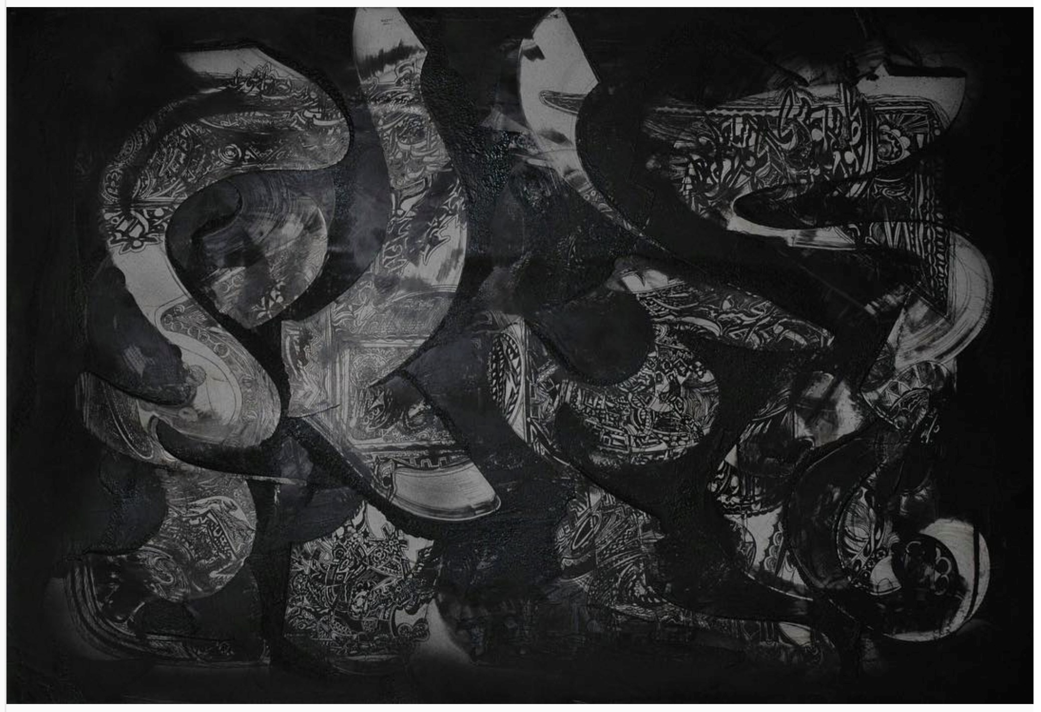 Smoke , 2008, mixed media on paper, 70 x 100cm