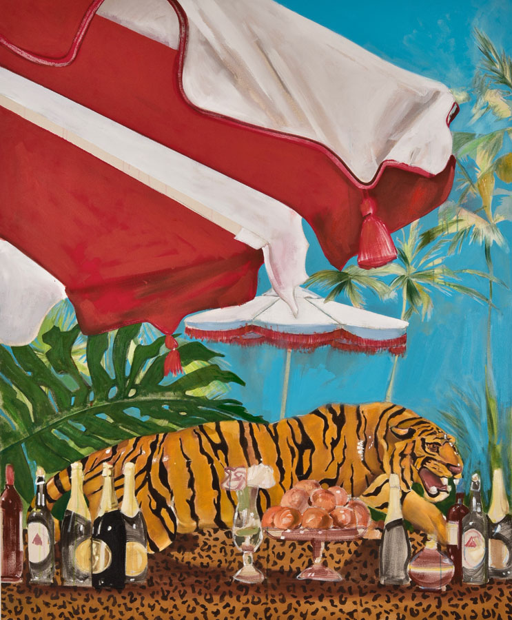 A Bar At The Faena 1 , 2017. Oil on canvas. 170×140 cm (triptych)