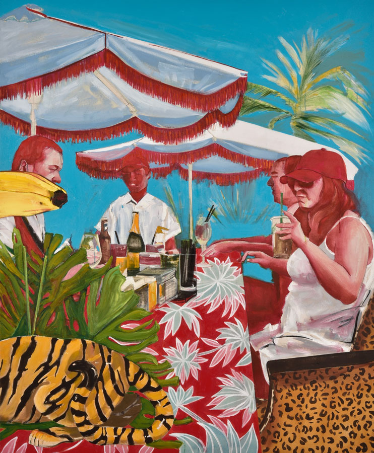 A Bar At The Faena 3 , 2017. Oil on canvas. 170×140 cm (triptych)
