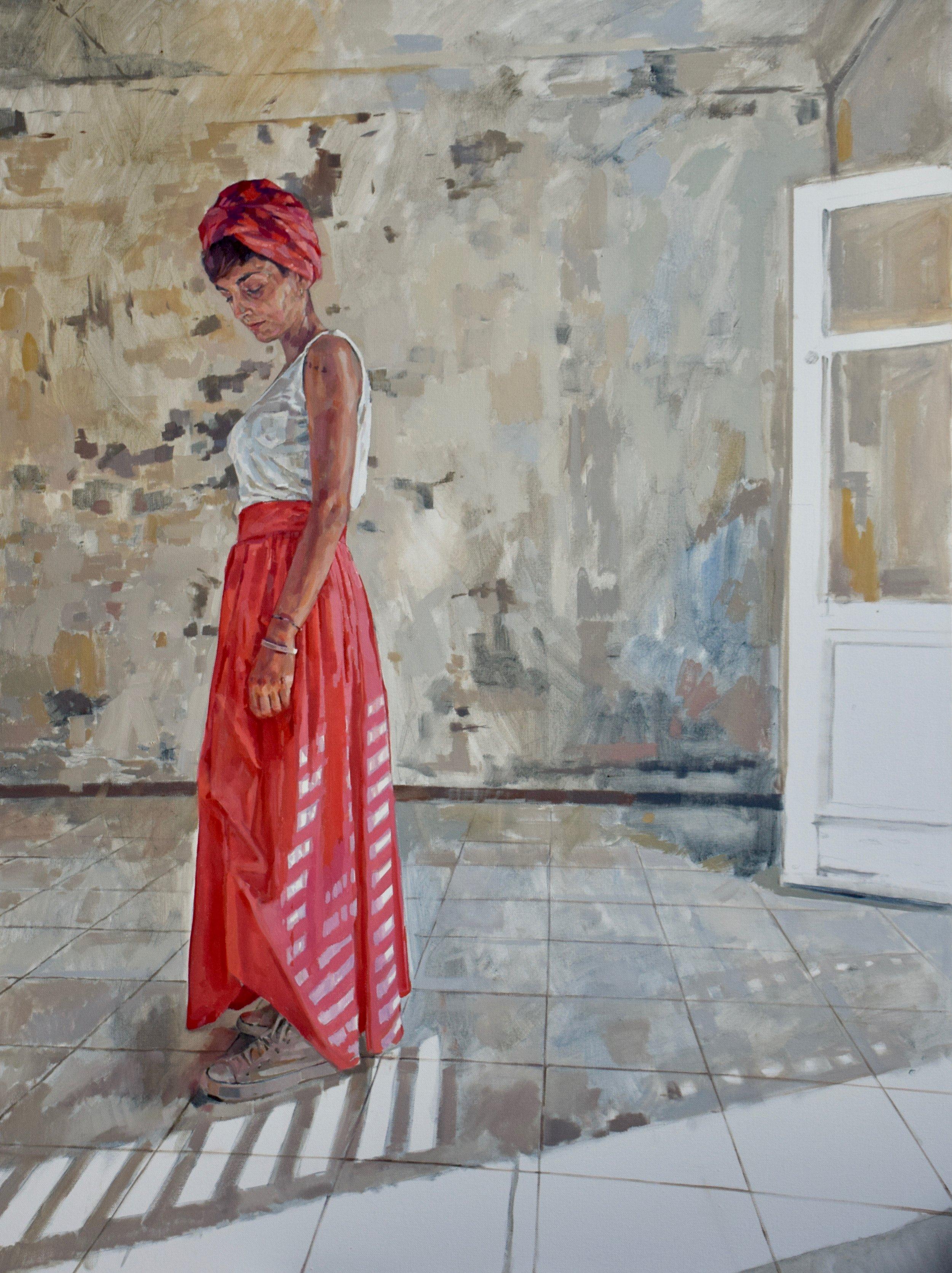 Giulia , 2017-8, oil on canvas, 120 x 90 cm