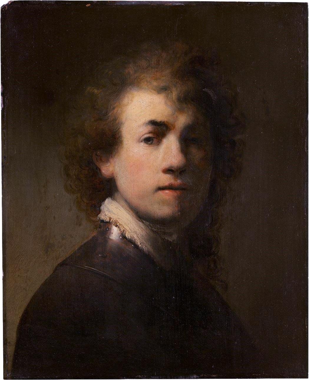 Self Portrait , Rembrandt, 1629, oil on canvas