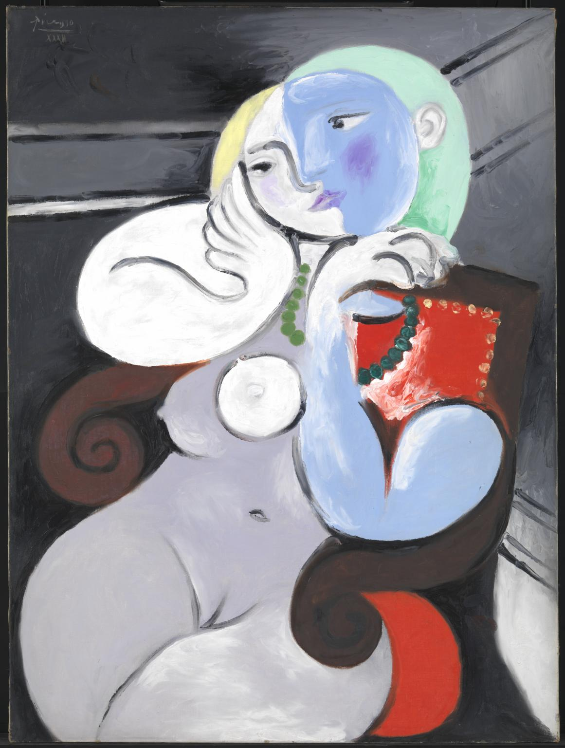 Nude Woman in a Red Chair