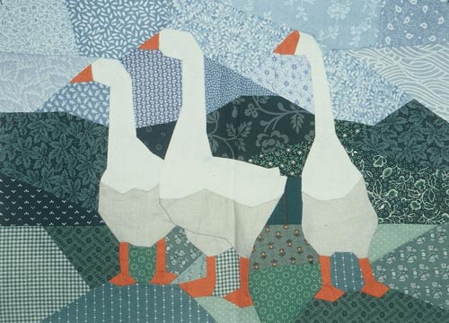 """Geese,"" created in the ""Pieced Pictures"" workshop."