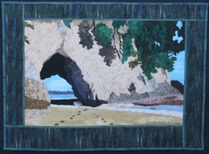 """Cathedral Cove"" from the  Layered Landscapes Workshop ."
