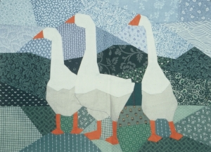 Geese project from  Pieced Pictures Workshop .
