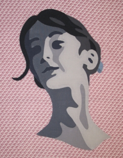 Portrait from  Appliqué for Realism in Brief  workshop.