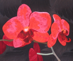 """""""Orchids"""" from the  Free-Formed Flowers  workshop."""