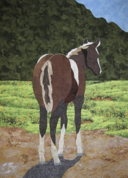 """Foal Alone"" from  Exemplary Hand Applique  workshop."