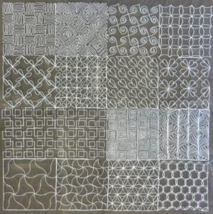 """Gridplay 1"" from the  Gridplay Quilting  workshop."
