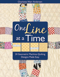 One Line at a Time - Machine Quilt Geometric Designs without Marking