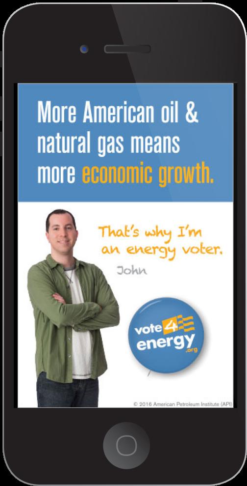 """API """"Vote 4 Energy"""" Digital Ad"""