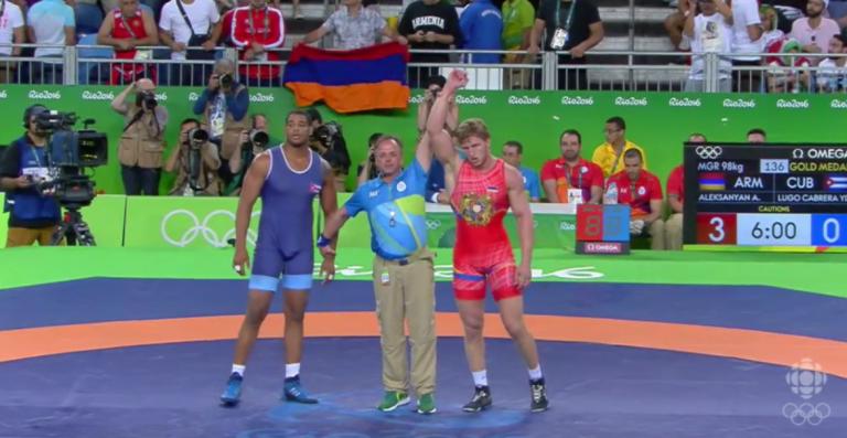 Gold medal winner Artur Aleksanyan