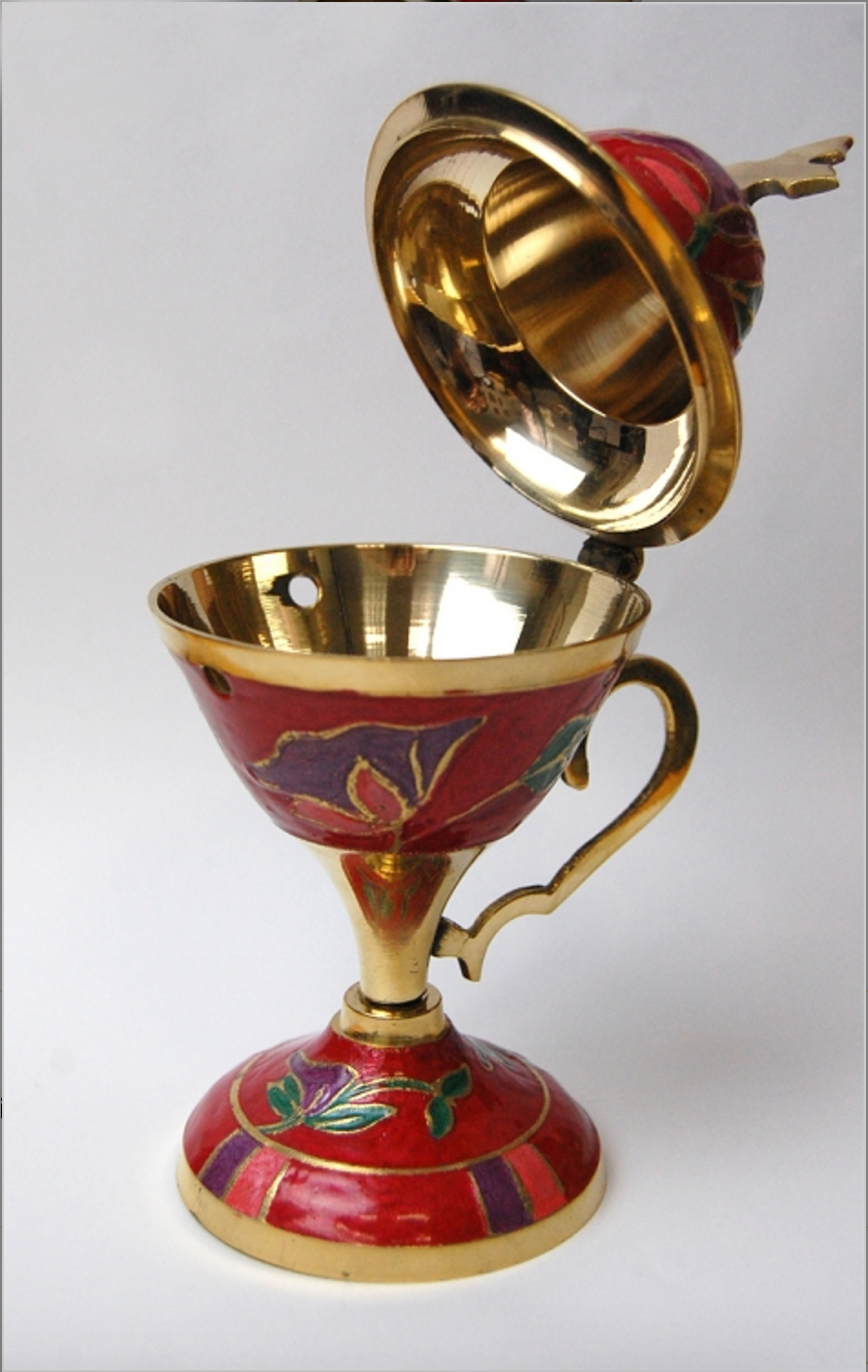 Large Enamel Incense Burner Tekeyan Cultural Association