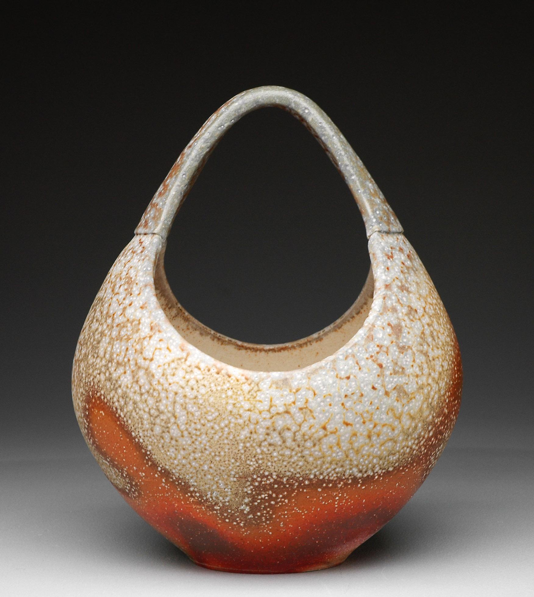 Basket , soda fired stoneware, 2013