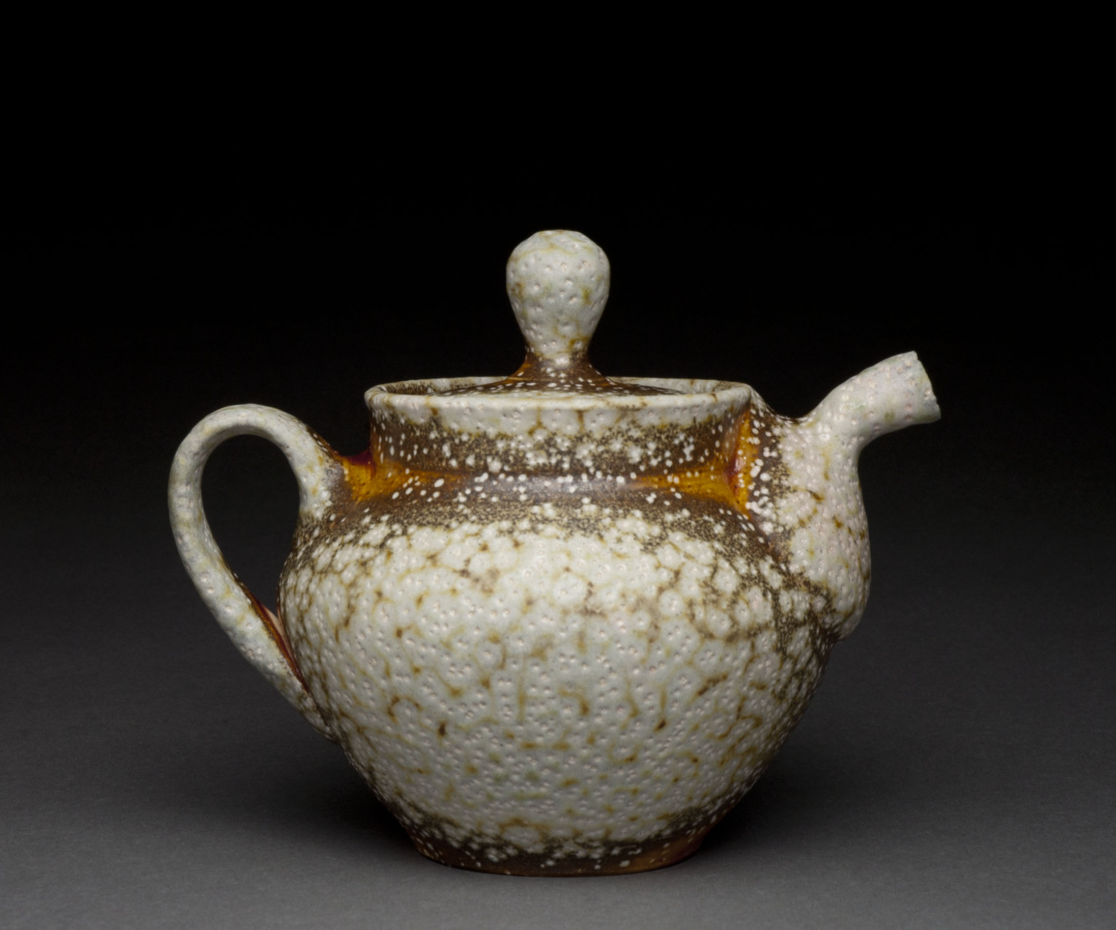 Teapot , soda fired stoneware, 2014