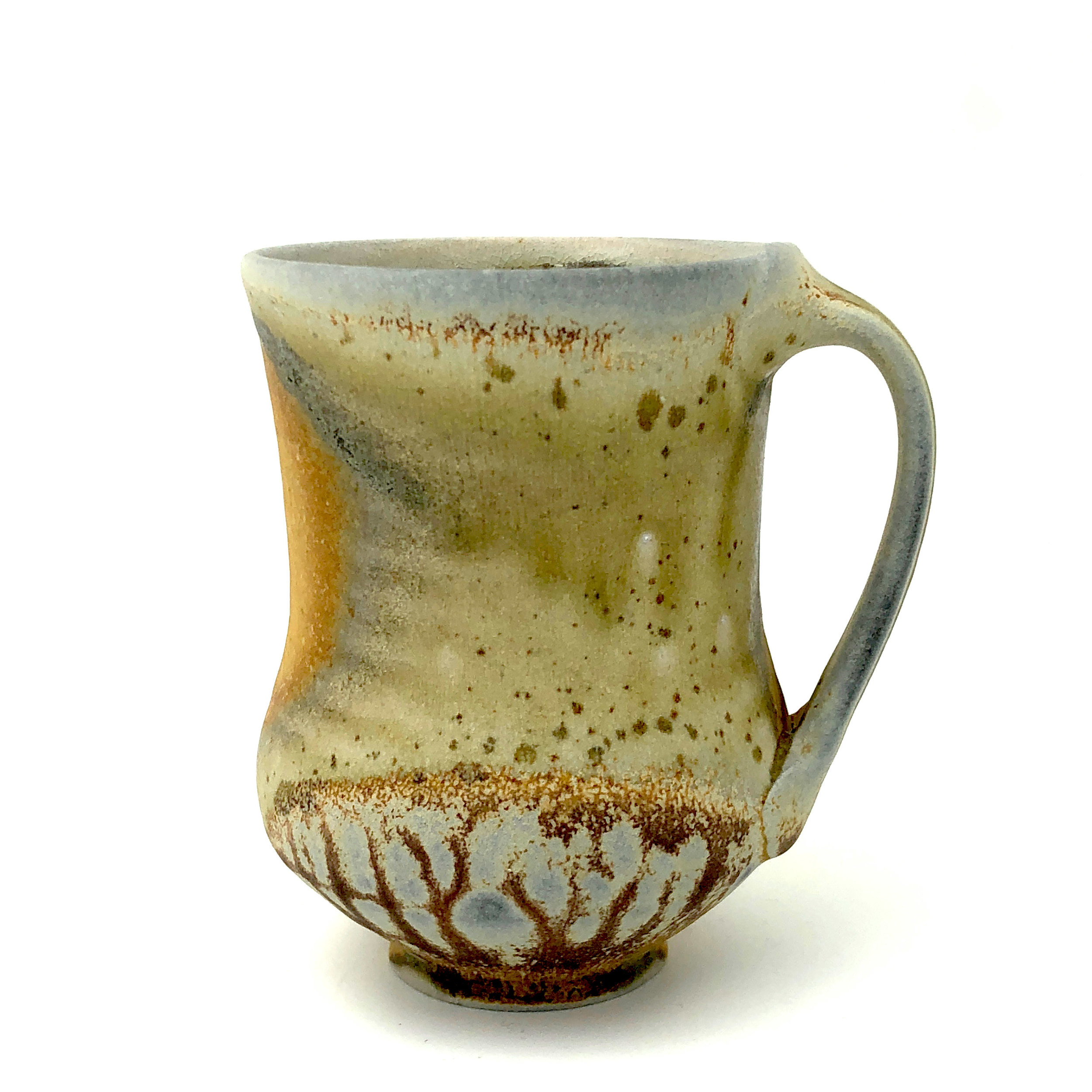 Mug,  soda fired stoneware, 2018