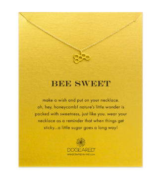 Dogeared Bee Sweet gold dipped necklace, $58