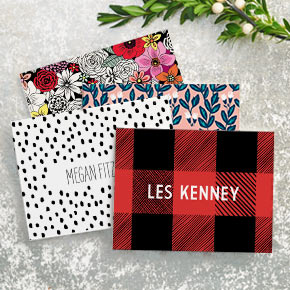 Paper Source custom stationary, starting at $25 for 20 cards and envelopes
