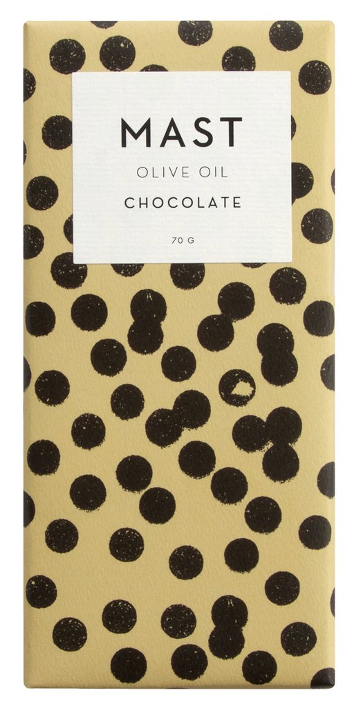 Mast Brothers, 2.5oz olive oil chocolate bar, $8